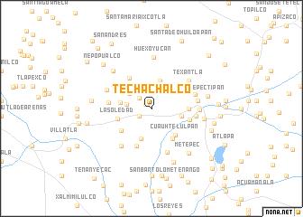 map of Techachalco