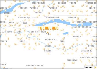 map of Techelweg