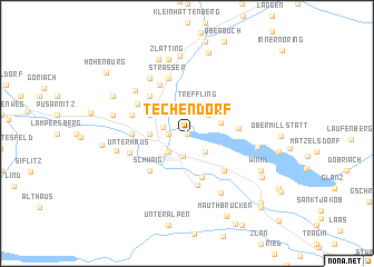 map of Techendorf