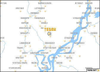 map of Tedaw