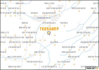 map of Teesdorf