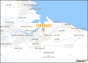 map of Teesport