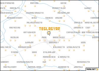 map of Téglagyár