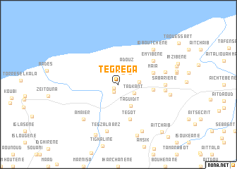 map of Tegrega