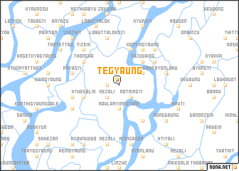 map of Tēgyaung
