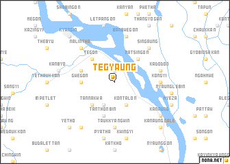 map of Tegyaung