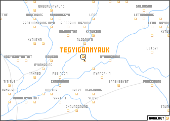 map of Tègyigon Myauk