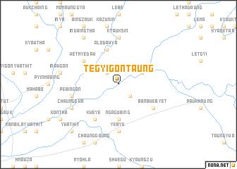 map of Tègyigon Taung