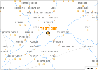 map of Tègyigon