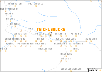 map of Teichlbrücke