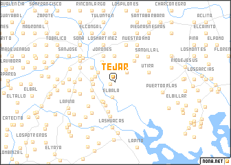 map of Tejar