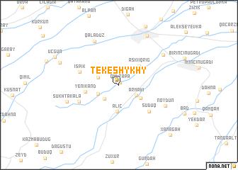 map of Tekeshykhy