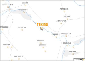 map of Tëkino