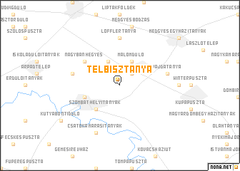 map of Telbisztanya