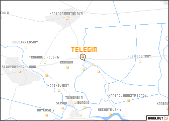 map of Telegin