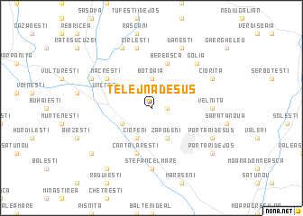 map of Telejna de Sus