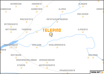 map of Telepino