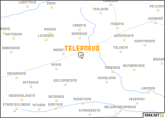 map of Telepnëvo