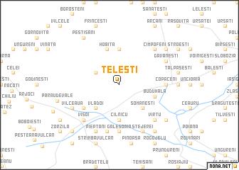map of Teleşti