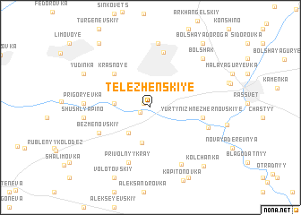 map of Telezhenskiye