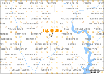 map of Telhadas