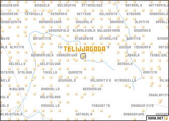 map of Telijjagoda