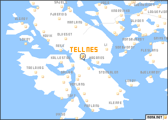 map of Tellnes