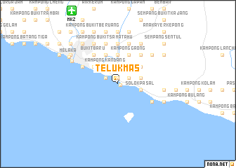 map of Teluk Mas