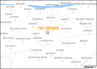 map of Telyakovo