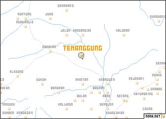 map of Temanggung