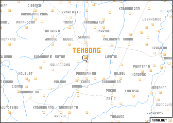map of Tembong