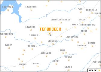 map of Ten Broeck