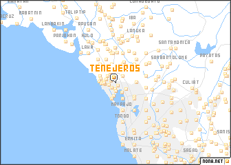 map of Tenejeros