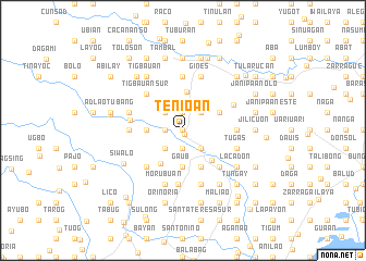 map of Tenio-an