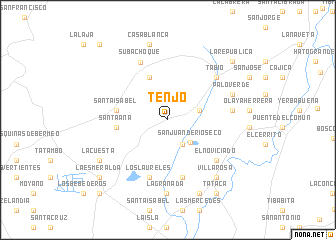 map of Tenjo