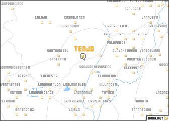 map of Tenjo