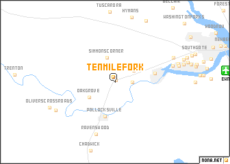 map of Tenmile Fork