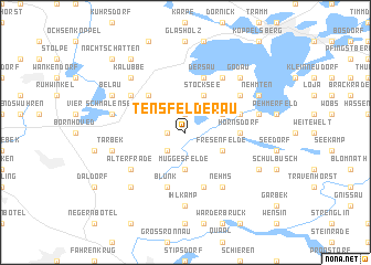 map of Tensfelderau