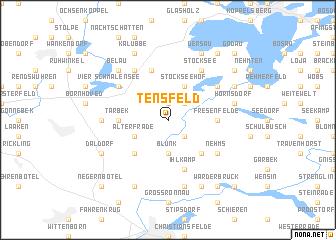 map of Tensfeld