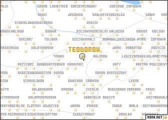 map of Teodorów