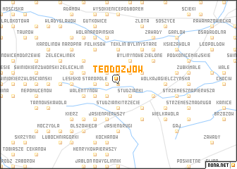 map of Teodozjów