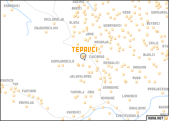 map of Tepavci