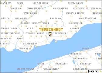 map of Tepécshegy