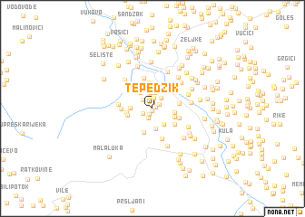 map of Tepedžik