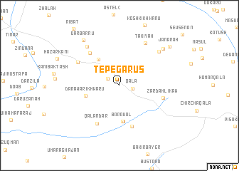 map of Tepe Garūs