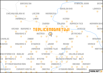 map of Teplice nad Metují
