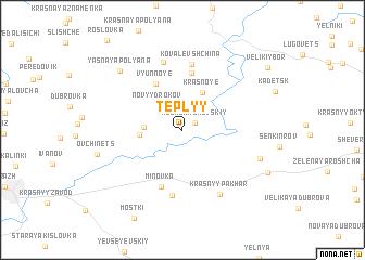 map of Tëplyy