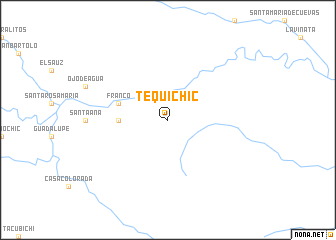 map of Tequichic