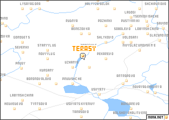 map of Terasy