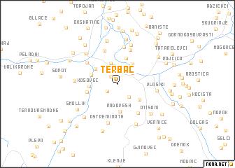 map of Tërbaç